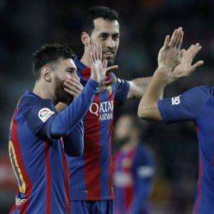 Messi Busquets Barça Sporting Gijón Efe