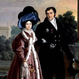 Ferran VII i Maria Cristina de Borbó (1830), obra de Luis Cruz Diaz. Font Museo de Bellas Artes de Asturias