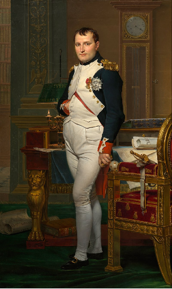 Napoleó Bonaparte (1812), obra de Jean Louis David. Font Musée des Tulleries