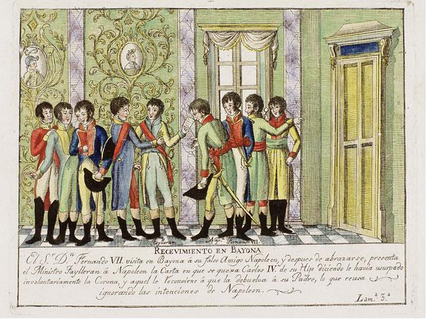 Las mal llamadas|nombradas Abdicaciones de Bayona|Baiona (1808). Font Red Digital de Colecciones. Ministerio de Cultura de España