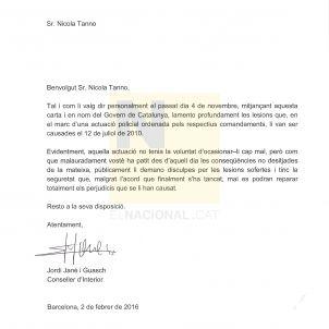 Carta de Jané a Tanno