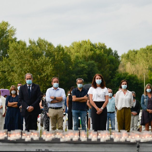 Europa Press - Homenatge víctimes coronavirus Girona Torra