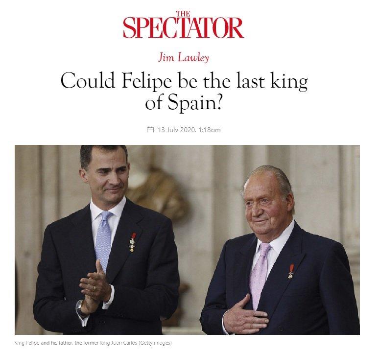 El final de la monarquía española, según la prensa inglesa
