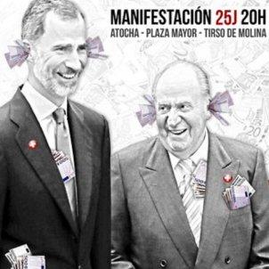 Cartell manifestacio Madrid Rei
