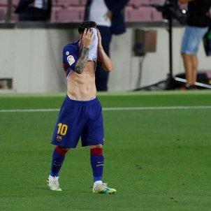 Messi trist Barça EFE