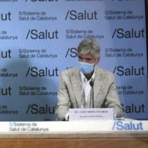 La consellera de Salut, Alba Vergés, i el nou secretari de Salut Pública, Josep Maria Argimon / EUROPA PRESS