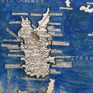 Nomenen Hug Bonapart, darrer regent català de Córsega. Mapa de Córsega (1482). Font Wikimedia Commons