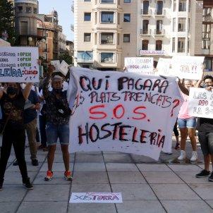 protesta restauradors lleida covid - aCN