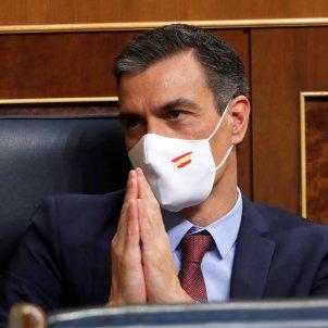 Pedro Sanchez mascareta bandera espanya congres - efe