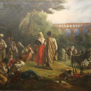 Representació d'un grup de gitanos catalans (1806), obra d'Alexandre Colin. Font Museu de Belles Arts de Nimes