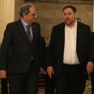 Quim Torra Oriol Junqueras Parlament ACN