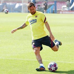 Leo Messi entrenament Barca Camp Nou FC Barcelona