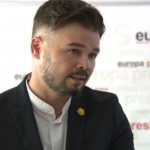 Gabriel Rufian portaveu ERC Congrés Europa Press