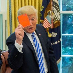 Donald Trump targeta vermella EFE