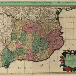 Test 108. El Tractat dels Pirineus. Mapa de Catalunya (1690). Font Cartoteca de Catalunya