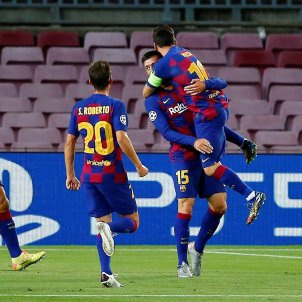 Barca Napols Lenglet Messi EFE