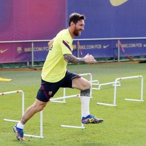 Messi entrenament Barca FC Barcelona