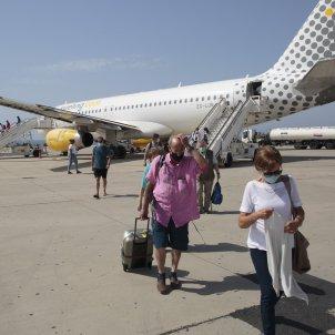 Aeroport Almeria avio vueling turisme mascareta mascaretes covid coronavirus - Sergi Alcàzar