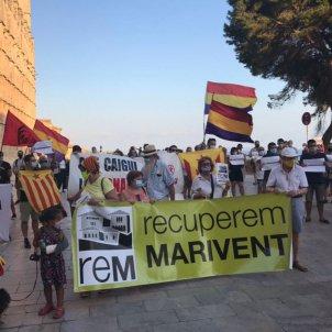 Manifestació contra Borbons Palma @cridaperpalma