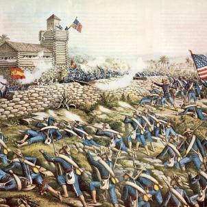 Representació de la Batalla de San Juan (1899), obra de Kurz i Alison. Font Wikimedia Commons