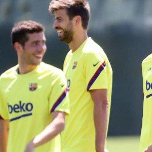 Sergi Roberto Gerard Pique Sergio Busquets Jordi Alba FC Barcelona @FCBarcelona
