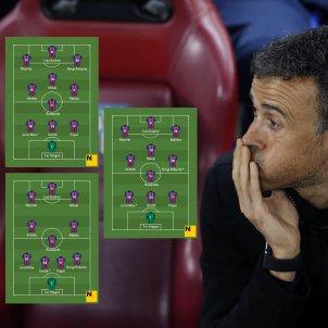 Alineacions Barça PSG Luis Enrique Efe