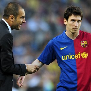 Pep Guardiola Leo Messi GTRES