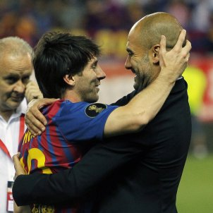 Messi Guardiola abraçada GTRES