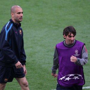 Messi Guardiola Barca Champions Europa Press