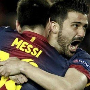 Messi Villa Barça Milan remuntada Champions EFE