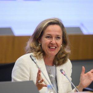 La vicepresidenta tercera de Asuntos Económicos, Nadia Calviño. Foto: EFE/Fernando Villar/Archivo