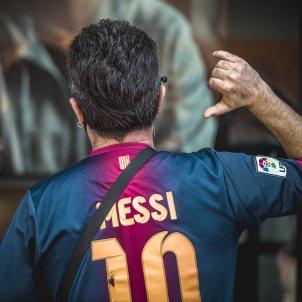 Aficionat samarreta Barcelona Barca Messi Europa Press