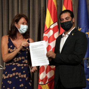 Marta Madrenas Quim Ayats girona pacte ERC JxCAt ajuntament - ACN