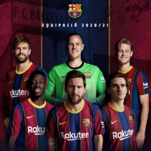 Barca primera equipacio Messi @FCB