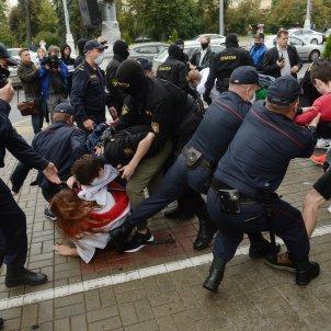 Entrontament estudiants policia Bielorússia