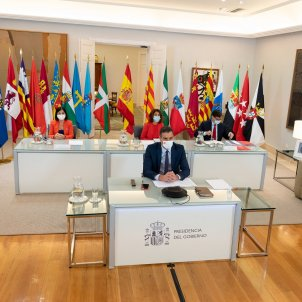Conferència telemàtica presidents Moncloa