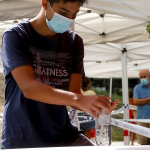 Test coronavirus Sant Boi gel hidroalcoholic EFE