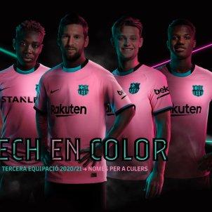 Tercera equipacio rosa Barca Barcelona @FCB