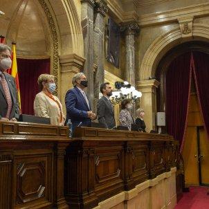 Homenatge exdiputats mesa parlament himne nacional els segadors Concepcio Ferrer Francesc Codina Dolors Montserrat i Cullere Manuela de Madre Ernest Benach - Sergi Alcazar