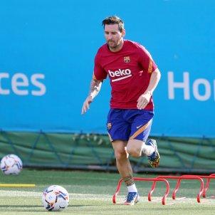 Leo Messi entrenament tornada FCB
