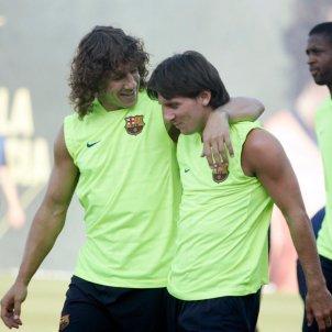 Carles Puyol Leo Messi entrenament @Carles5Puyol