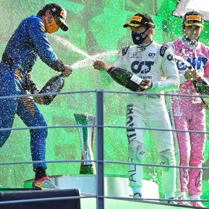 Pierre Gasly Carlos Sainz Lance Stroll podi formula 1 monza EFE