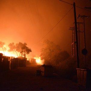 Lesbos Refugiats incendi EFE