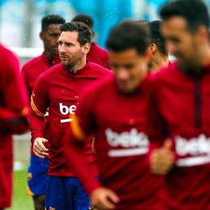 Leo Messi entrenament grup @fcb
