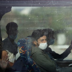Lesbos refugiats trasllat EFE