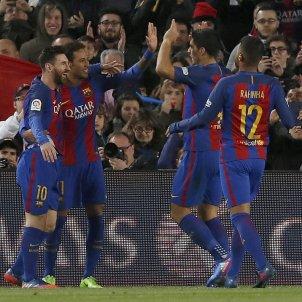Barça celebració gol Efe