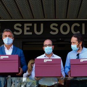 Marc Duch Jordi Farre Victor Font vots mocio censura Bartomeu EFE