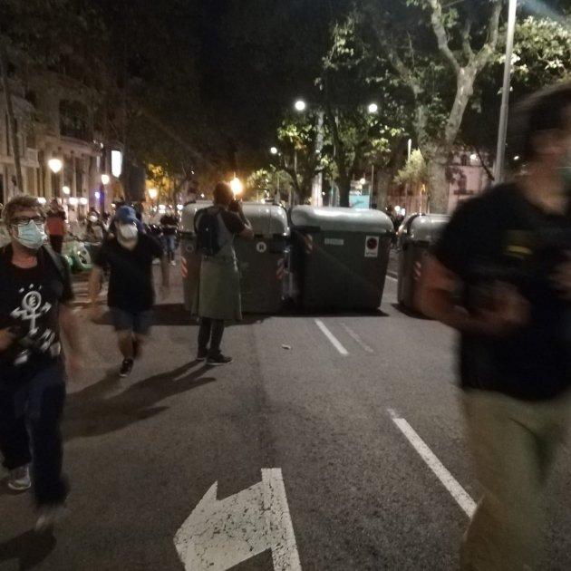 contenidors cdr manifestació diada 2020 - Marc González