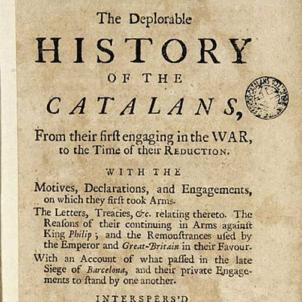 La deplorable historia dels catalans (1714). Font Viquipedia