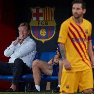 Messi mirada Koeman Barça Nastic EFE